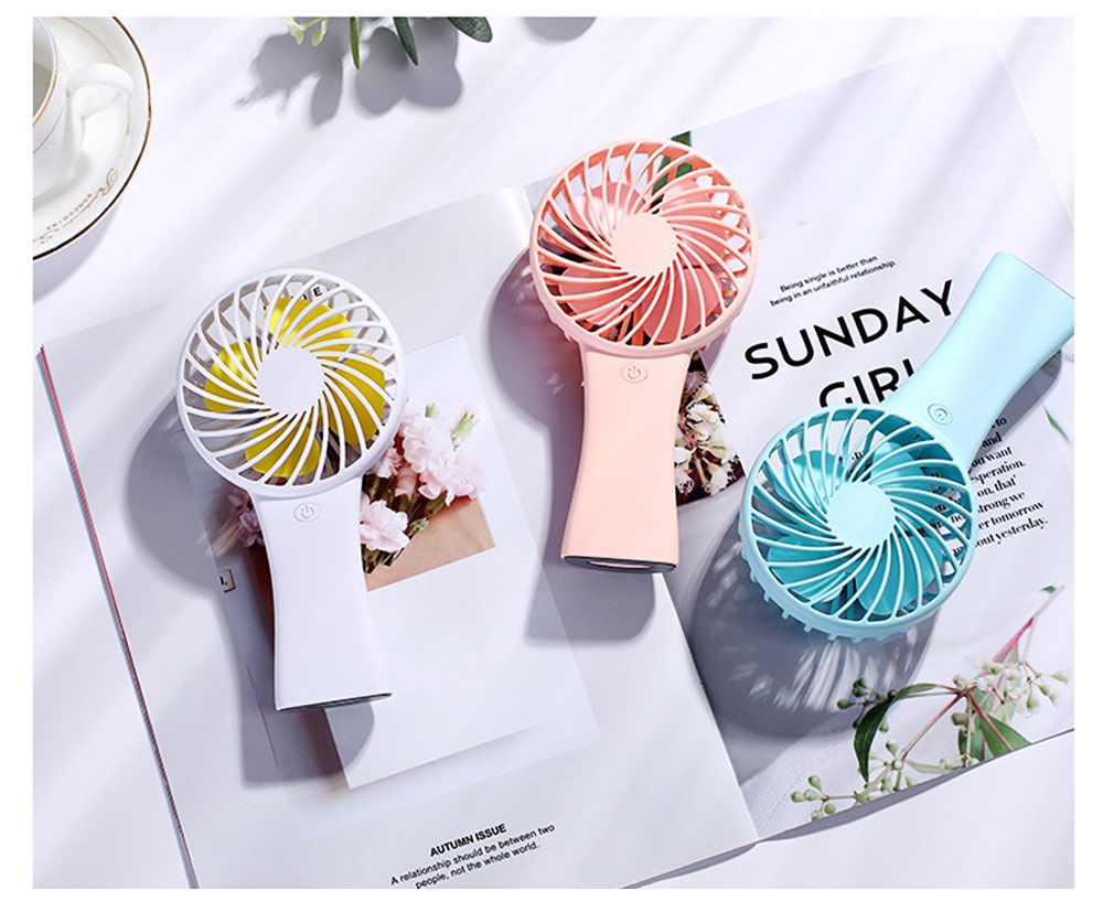 Silent USB Mini Fan with Large Capacity Outdoor Hand Held Charging Portable Mini Fan with Hang Rope Hole 5