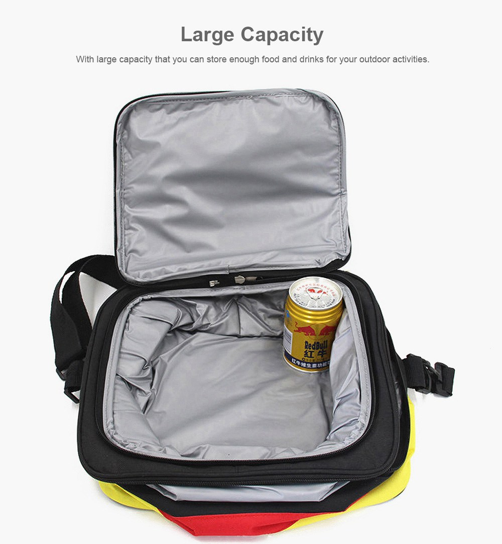 Insulated Lunch Bag for Outdoor, Picnic, BBQ, Reusable and Portable Picnic Tote Bag, Leakproof Ice Cooler Bag Storage Shoulder Bag 1200ML 3