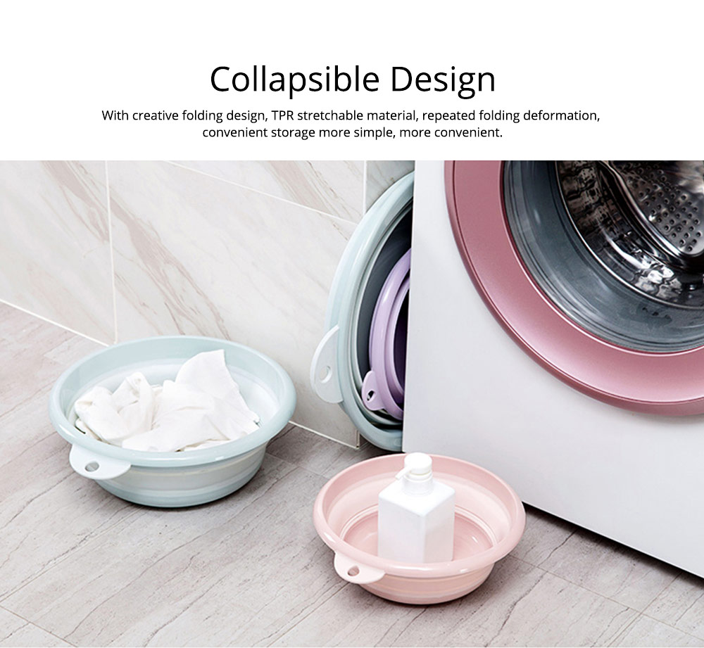 Portable Collapsible Washbasin with Anti-skid bottom Design for Easy Travel & Space-saving Washbasin with Hanging Hole 9