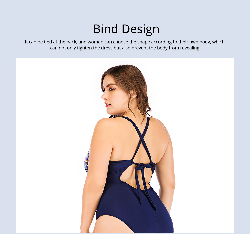 Full-size Flounce Swimsuit Digital Print One-piece Slimming, Straps Slimming Swimsuit with Various Style 3