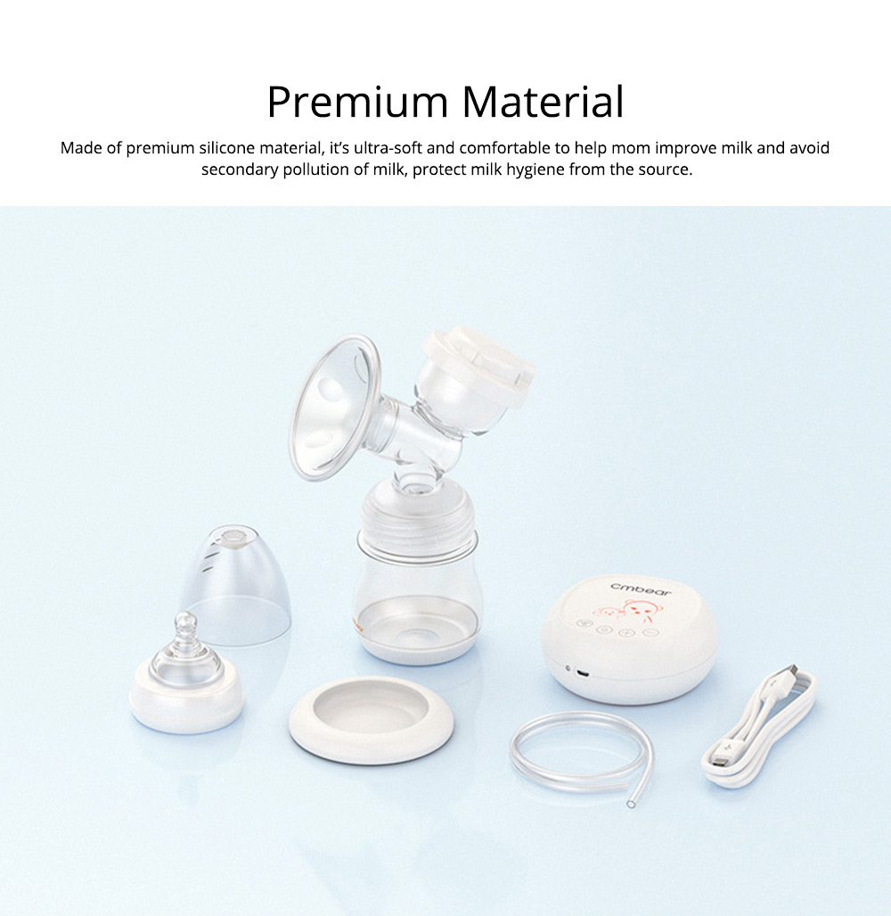 Electric Breast Pump With Silicone Wrist & Twelve Level Suction Adjustment, Silent Automatic Massage Breast Pump 1