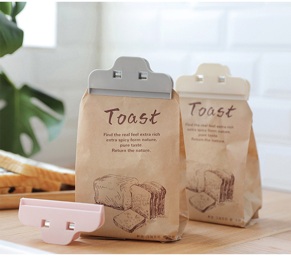 Multi-purpose Strong Plain Plastic Clip with Large Opening Design & Strong Spring for Snack Bags 5