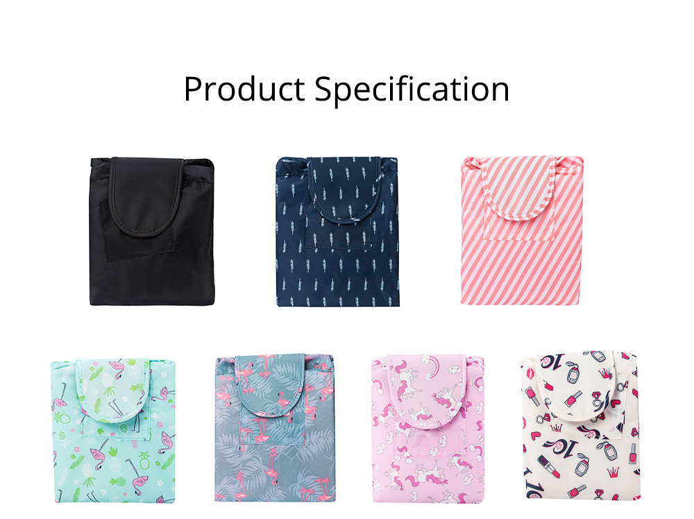 Waterproof Lazy People Cosmetic Storage Bag with Inside Zipper Pocket or Small Beauty Tools, Rollers, Eyebrow Clippers, etc. 7