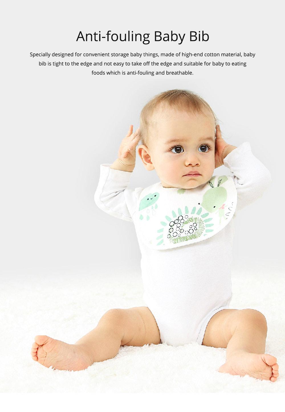 Anti-fouling Baby Bib with Dark Buckle Design & Ultra-soft Bag Edge Design & Cute Cartoon Design 0