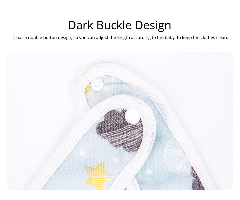 Anti-fouling Baby Bib with Dark Buckle Design & Ultra-soft Bag Edge Design & Cute Cartoon Design 3
