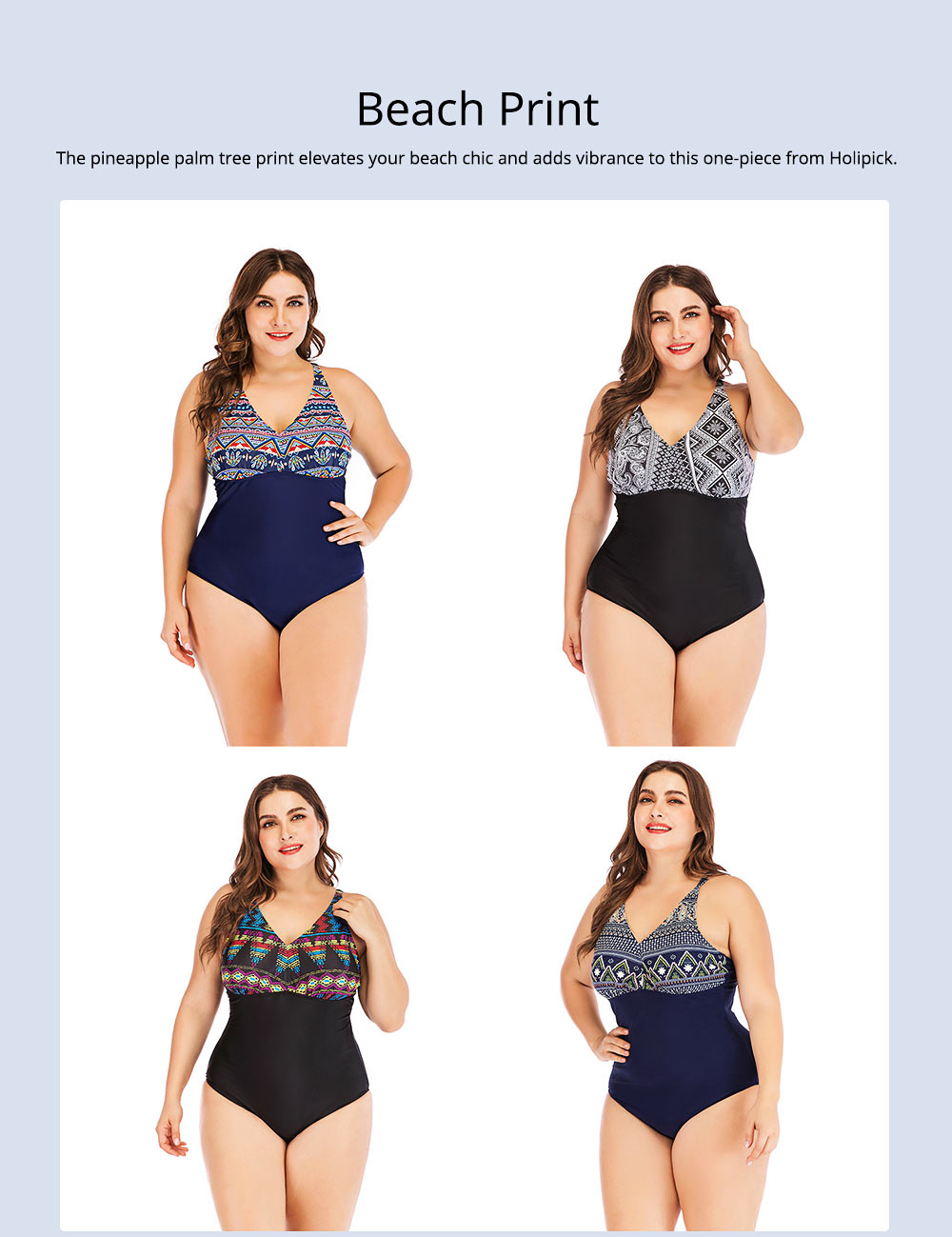 Full-size Flounce Swimsuit Digital Print One-piece Slimming, Straps Slimming Swimsuit with Various Style 4