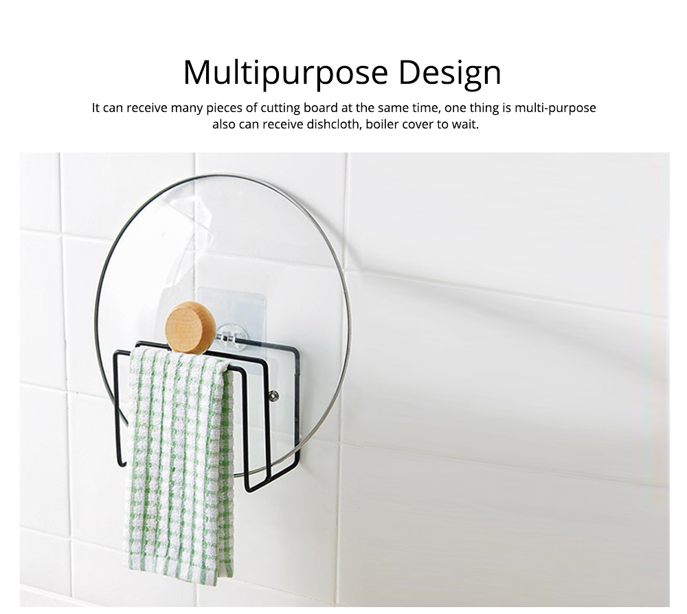 Multi-purpose Ion Art Cutting Board Rack with Double Compartment Storage Design, Washable & Bearing High Cutting Board Storage Rack 4