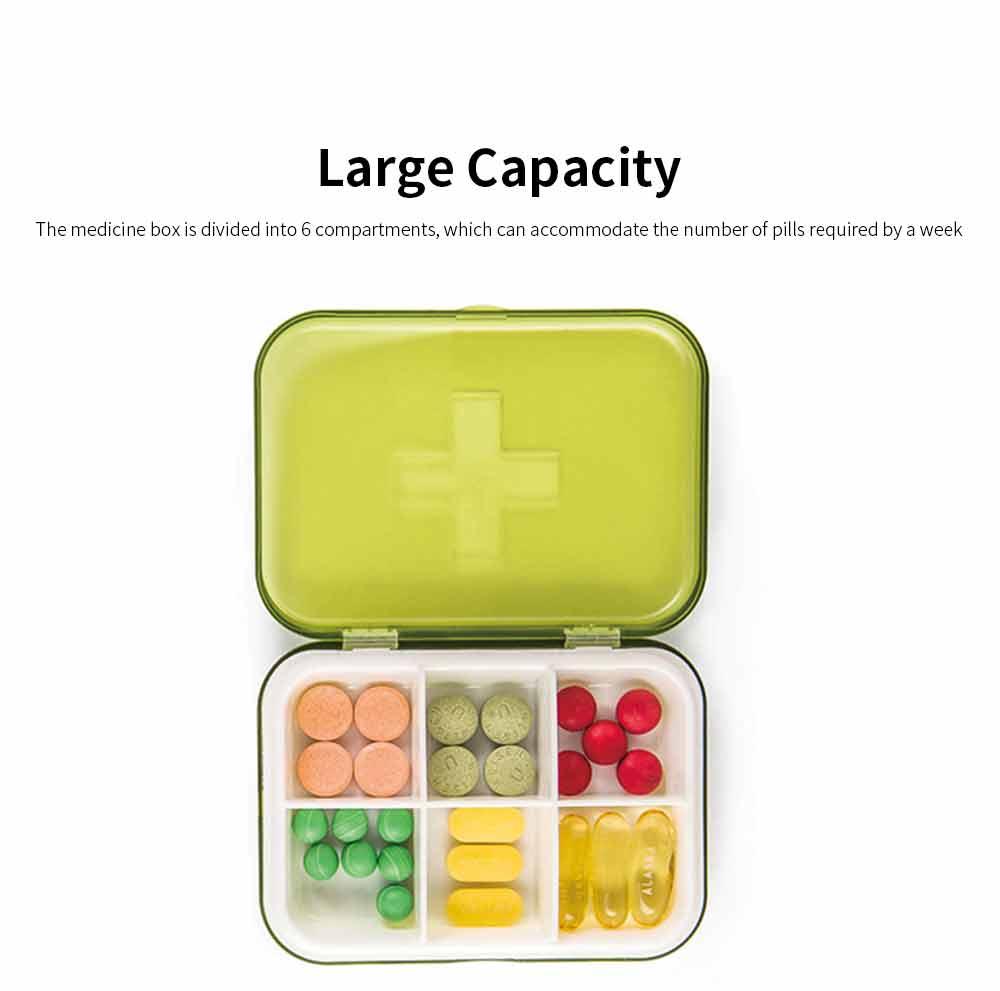 Mini Medicine Box Food Grade PP Portable 7 Days Compartments Sealing Waterproof Tablet Pill Organizer Customization 4