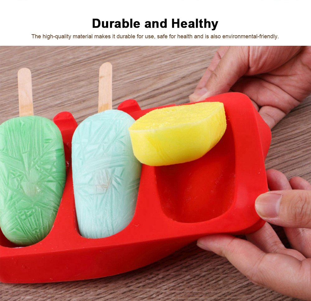 Silicone DIY Cartoon Ice Cream Mould, Popsicles Mould Set, 2pcs 3pcs Homemade Ice Cream Set, DIY Ice Cream Mold Maker 2