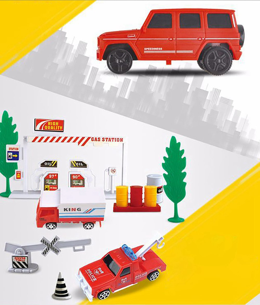 Simulation Model Fire Fight Truck for Children & Kids, Electric Motor Car Toy for 3 Years Old Track Fire Fight Series 4