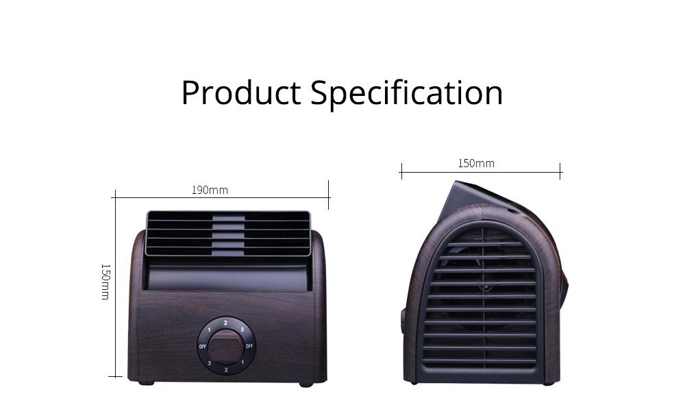 Non-USB Mini Desktop Fan with Three Adjustable Wind Speed, Desktop Student Dormitory Bed Quiet Office 7