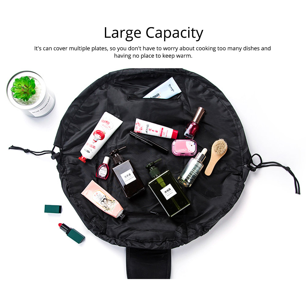Waterproof Lazy People Cosmetic Storage Bag with Inside Zipper Pocket or Small Beauty Tools, Rollers, Eyebrow Clippers, etc. 5