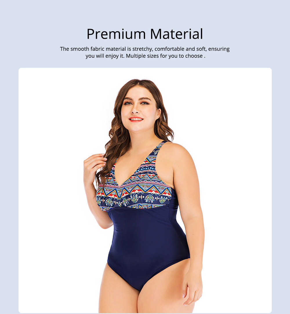 Full-size Flounce Swimsuit Digital Print One-piece Slimming, Straps Slimming Swimsuit with Various Style 1