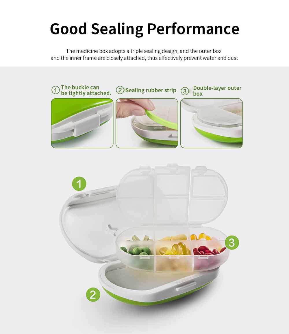 Mini Medicine Box Food Grade PP Portable 7 Days Compartments Sealing Waterproof Tablet Pill Organizer Customization 2