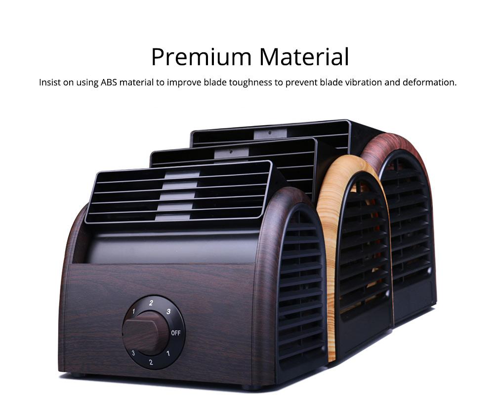 Non-USB Mini Desktop Fan with Three Adjustable Wind Speed, Desktop Student Dormitory Bed Quiet Office 1