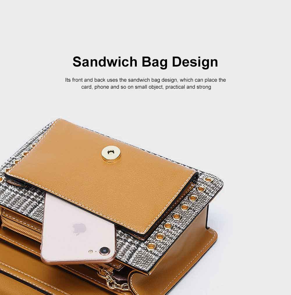 Contrast Color Small Square Bag, Fashion Handbag Shoulder Slung Bag for Female, Summer 2019 3