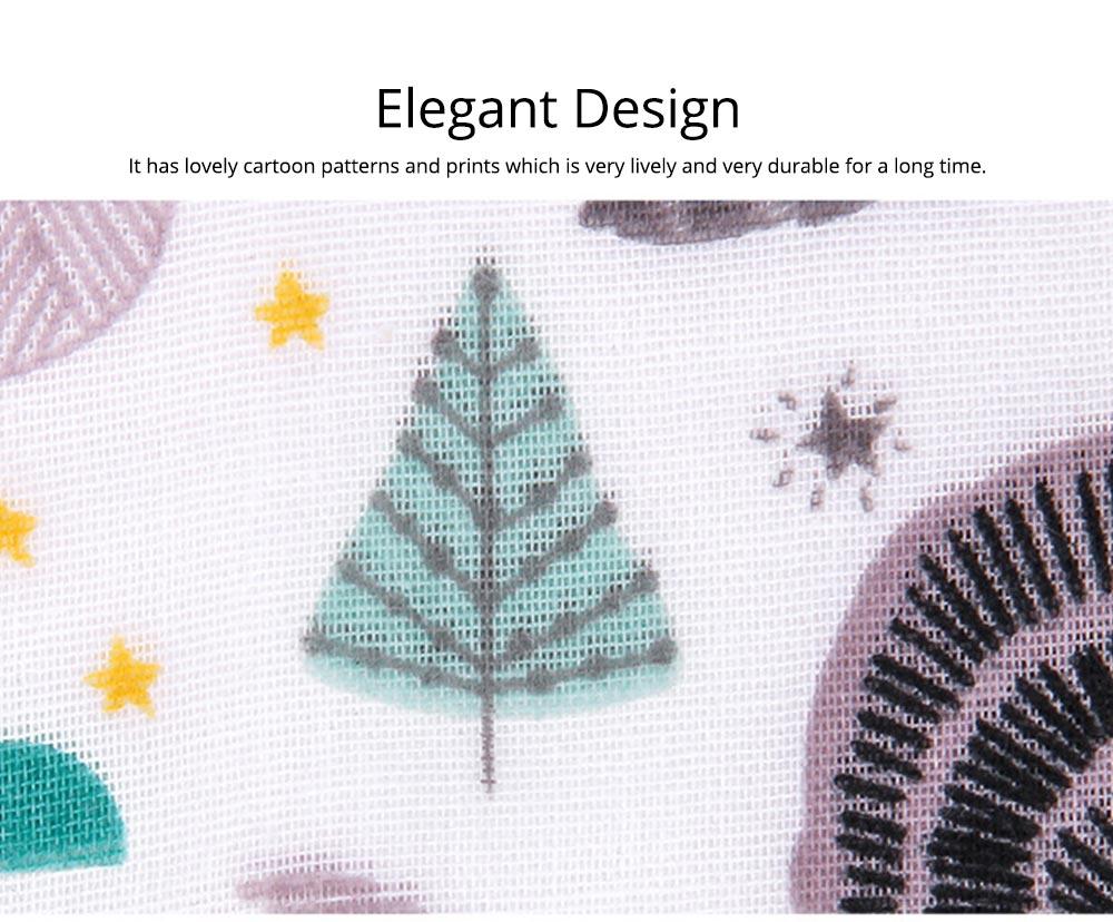 Baby Cotton Gauze Saliva Towel with Dark Buckle Design & Ultra-soft Bag Edge Design, Baby Bib with Cute Cartoon Design 6