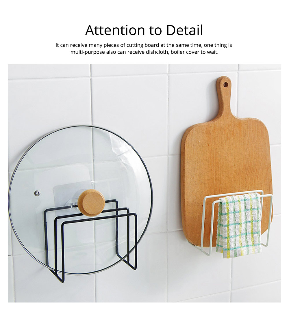 Multi-purpose Ion Art Cutting Board Rack with Double Compartment Storage Design, Washable & Bearing High Cutting Board Storage Rack 6