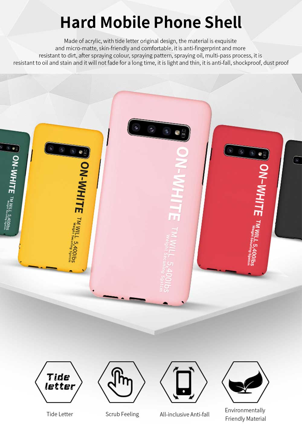 Mobile Phone Shell, Cover Case For Samsung S10, S10 plus Phone Case For Samsung Galaxy S10 Lite, Galaxy S10 + Hard Shell Protective Back Cover 0