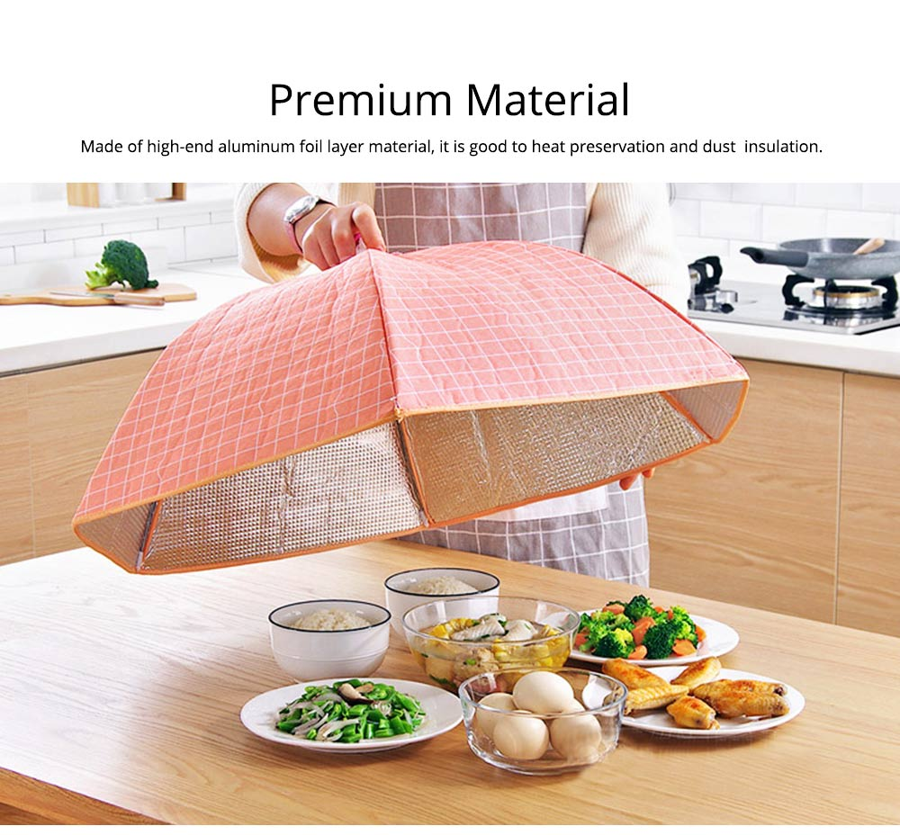 Umbrella Aluminum Foil Heat Preservation Food Cover with Aluminum Foil Layer for Dust Insulation & Convenient Daily Diet 1