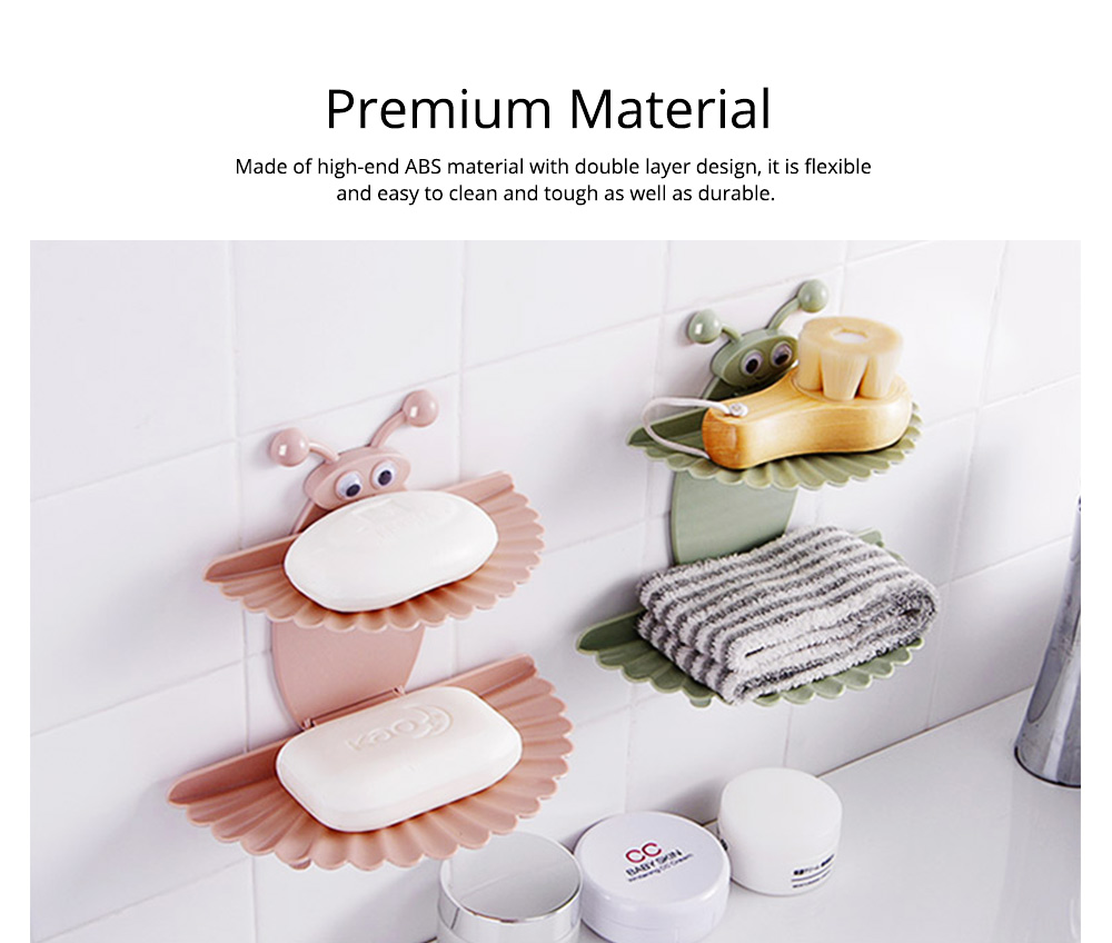 Double Layer Soapy Soap Box with Asphalt Hole, Convenient Storage Soap Container 1