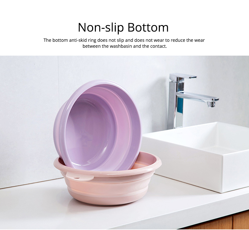 Portable Collapsible Washbasin with Anti-skid bottom Design for Easy Travel & Space-saving Washbasin with Hanging Hole 4