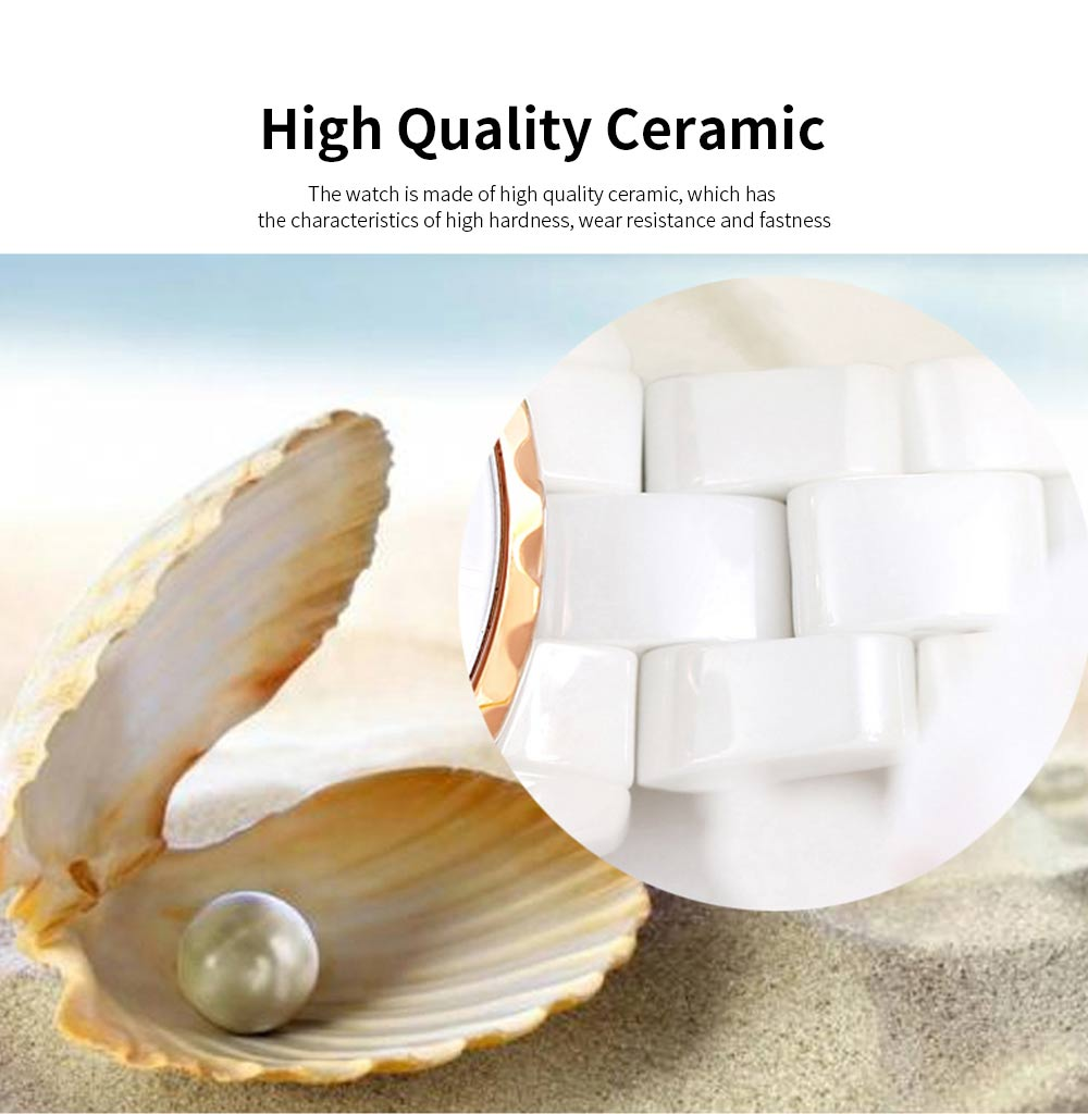 Genuine White Ceramic Band Quartz Watch for Women Fashion Luminous Waterproof 30m Imported Movement Couple Wristwatch 3