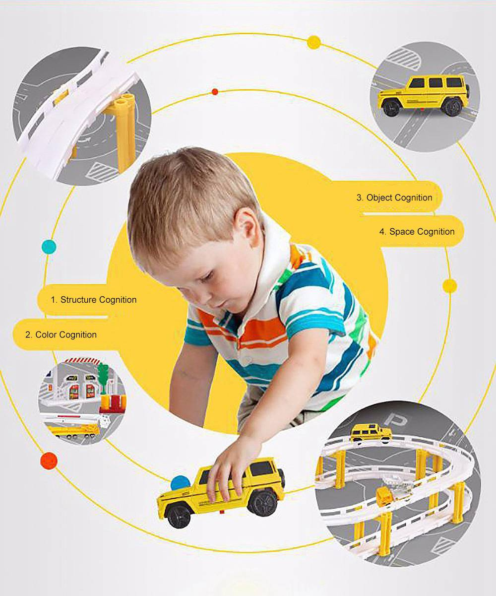 Simulation Model Toy Car for Children & Kids, Toy Electric Rail Truck Car, Engineering Series Toy Car Sensory, Emotional Intellectual Development Parent-child Play Toy 2