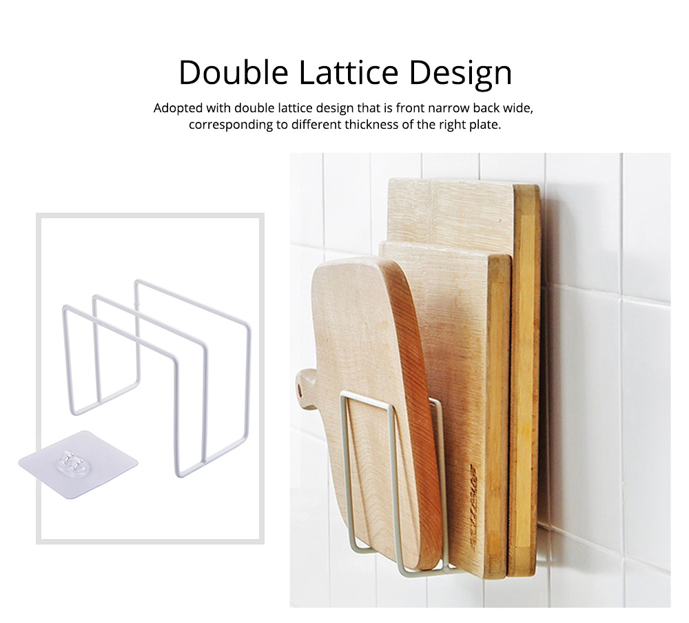 Multi-purpose Ion Art Cutting Board Rack with Double Compartment Storage Design, Washable & Bearing High Cutting Board Storage Rack 3