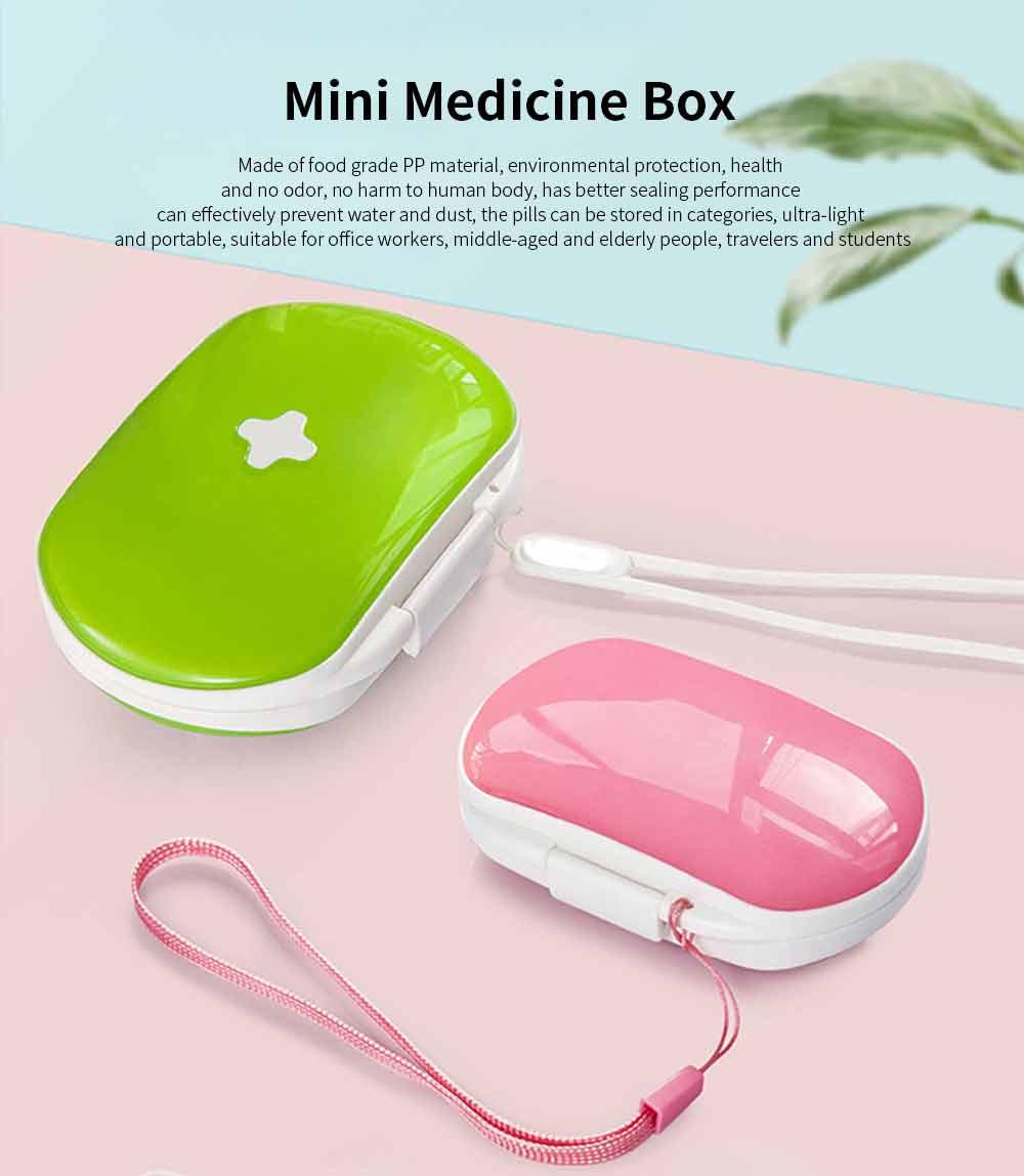 Mini Medicine Box Food Grade PP Portable 7 Days Compartments Sealing Waterproof Tablet Pill Organizer Customization 0