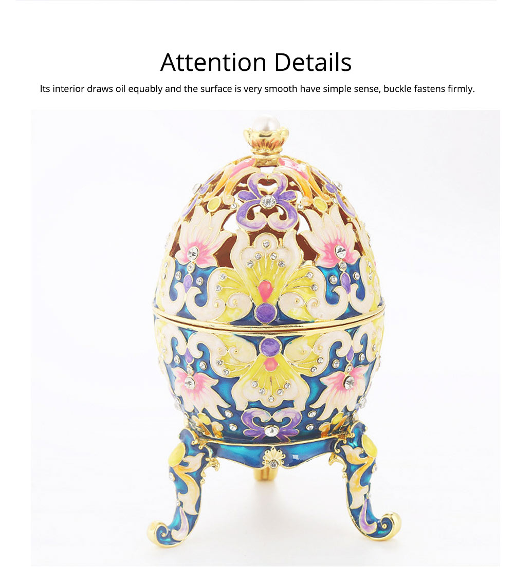 Diamond-inlaid Large-sized Colored Eggs for Jewelry Boxes, Luxury Ornaments, Metal Crafts Gifts 3
