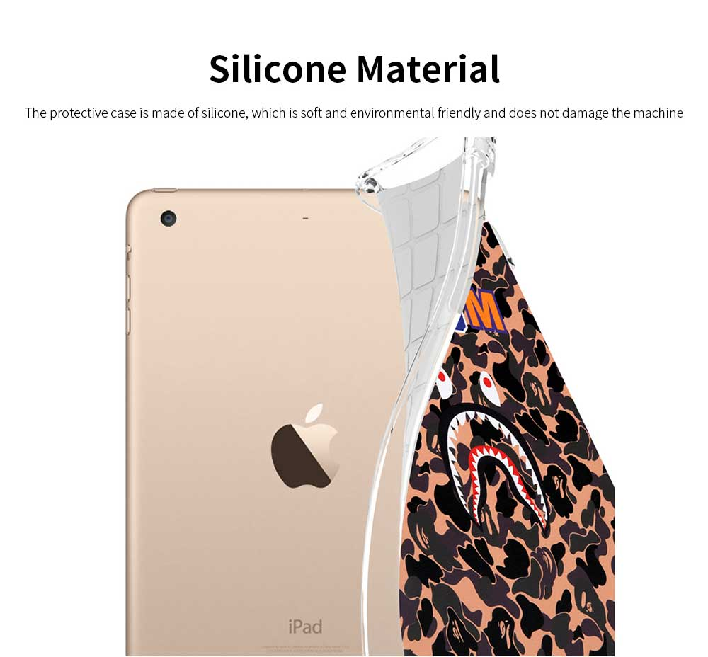 Silicone Protective iPad Smart Case for 2018 New iPad 2017 Air 1 Air 2 Mini 4 Anti-fall Full Protect Shell 4