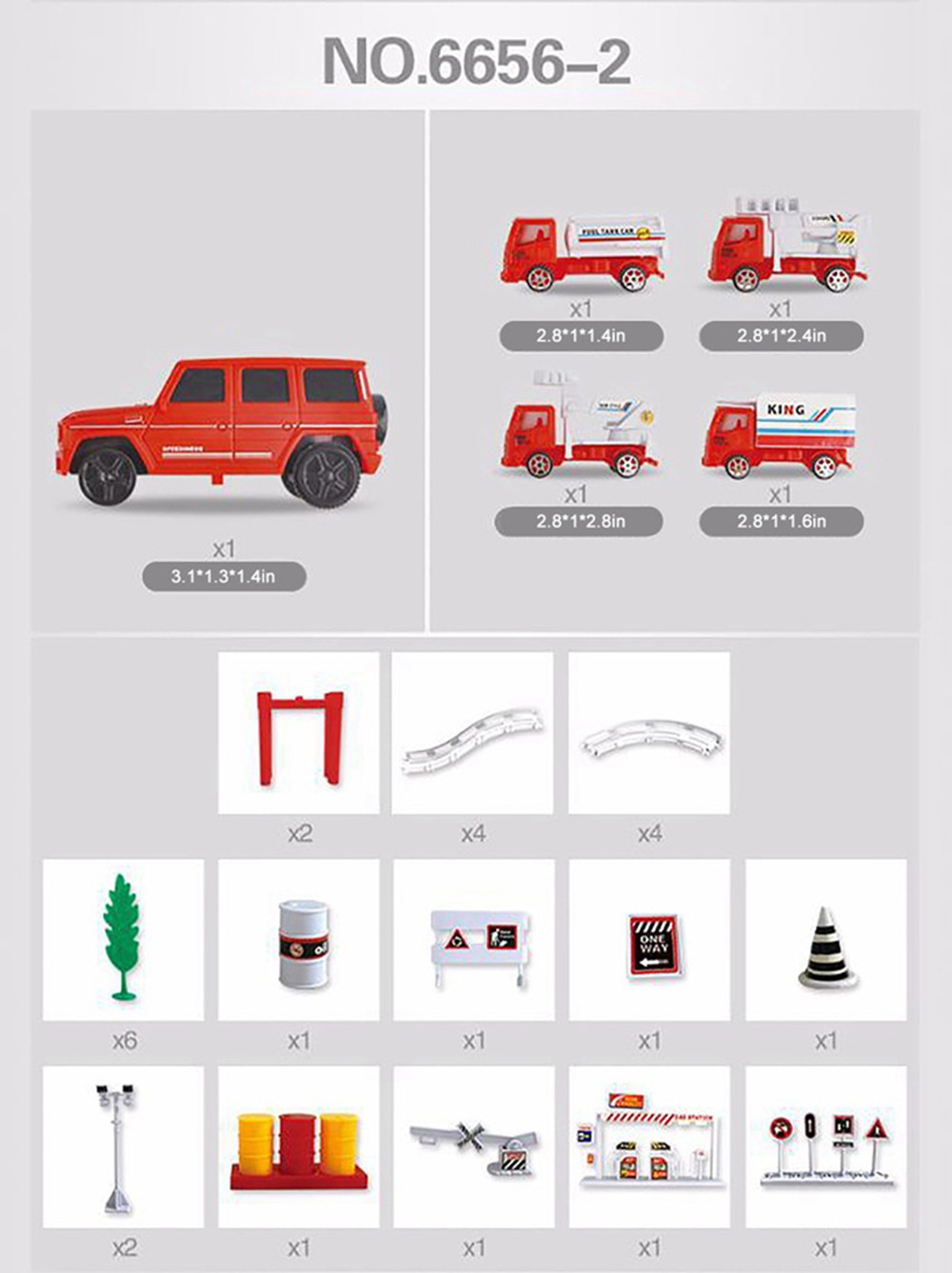Simulation Model Fire Fight Truck for Children & Kids, Electric Motor Car Toy for 3 Years Old Track Fire Fight Series 9