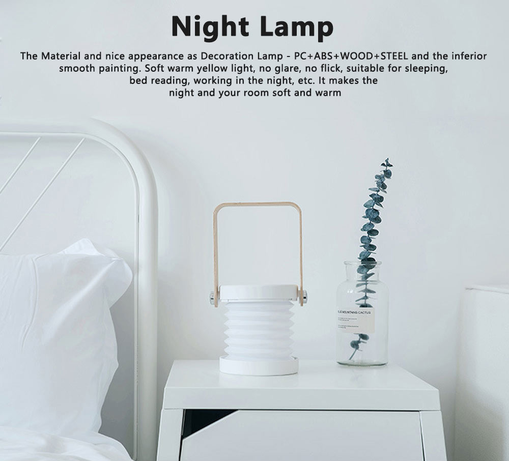 Hanging LED Night Lights Multifunctional Rechargeable Reading Lamp Adjustable Table Lamp Bedside Lamp for Home Decor 0