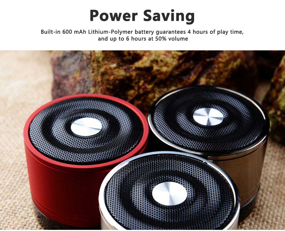 Portable Wireless Speakers Outdoor Rechargeable Bluetooth Speaker HD Sound &Bass Mini Stereo Speaker with Built-in Mic and SD/TF Card 5