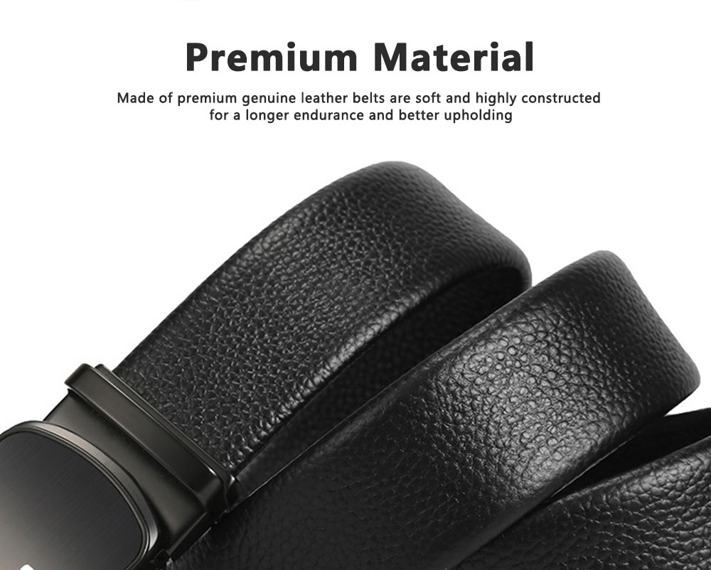 TUCANO Men Belts Genuine Cowhide Leather Belt Mens Fashion Accessories with Automatic Sliding Buckle 5