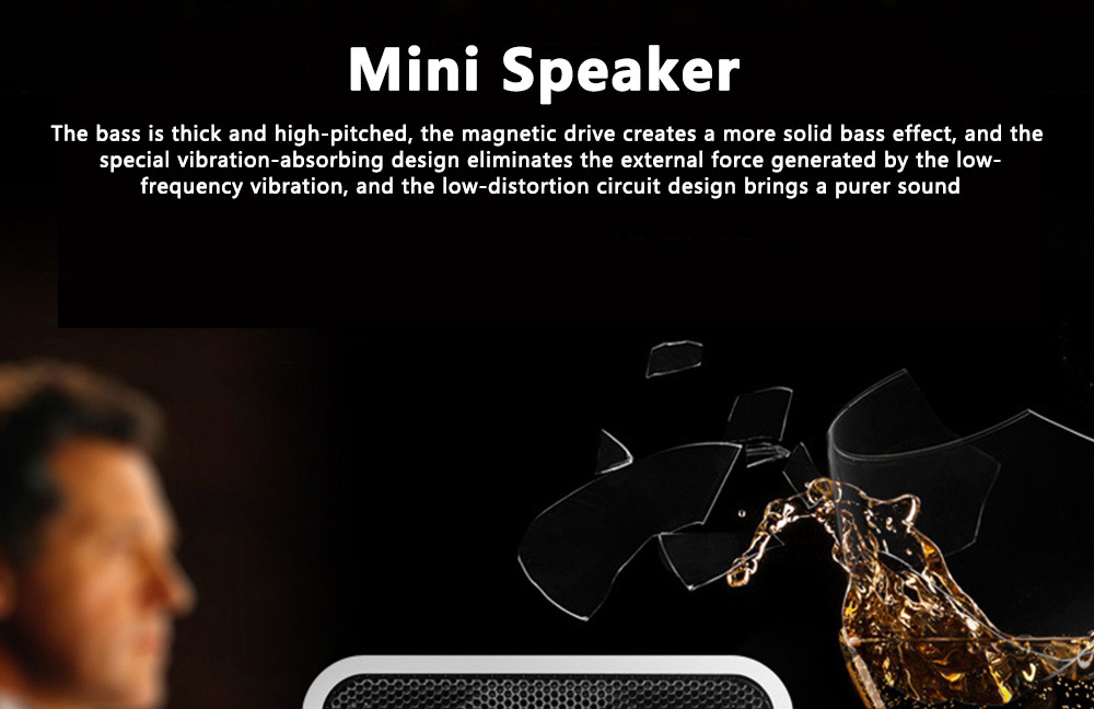 Mini Bluetooth Speaker Powerful Sound with Enhanced Bass, Built-in Mic, Support TF Card Playing, Portable for Travel, Outdoor, Hiking 0