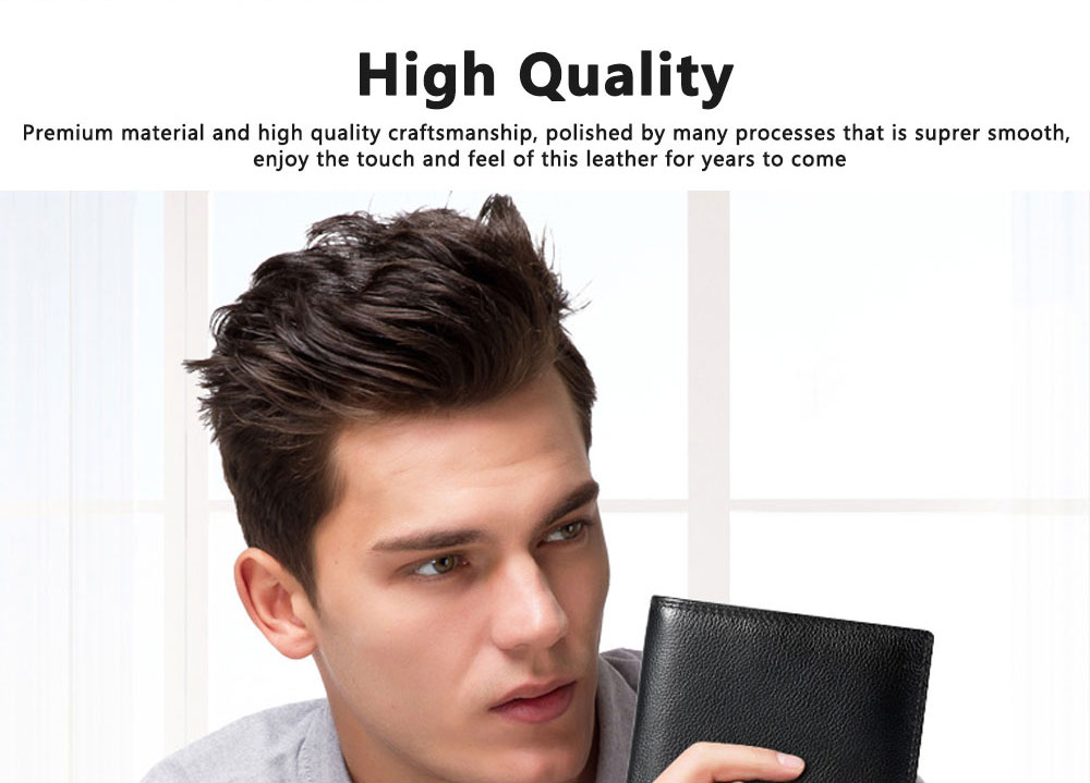 TUCANO Men Wallet Soft Business Genuine Leather Wallets Slim Bifold Top Flip Money Clip Gifts for Men 2