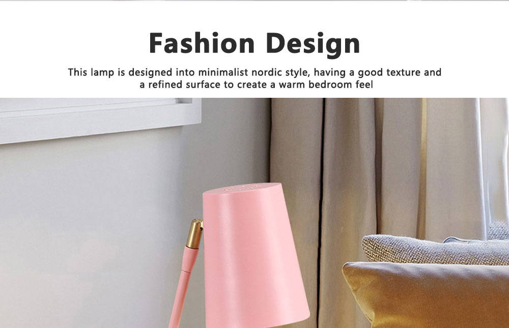Macaron Table Lamp Durable Creative Rotated Metal LED Desk Light Simple Slim Reading Lights for Home Bedroom School Dormitory Decoration 6