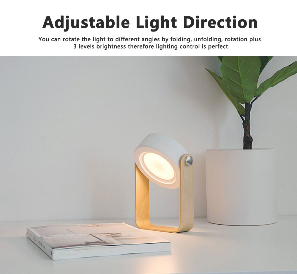 Hanging LED Night Lights Multifunctional Rechargeable Reading Lamp Adjustable Table Lamp Bedside Lamp for Home Decor 2