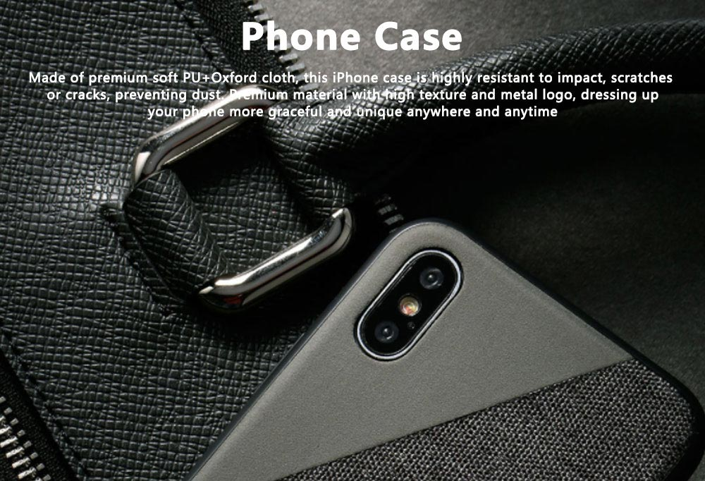 Creative Phone Case Modern Soft PU Cloth Back Case Cover Phone Protective Shell for iPhone 7or 8, 7 or 8 Plus, X or XS Max 0