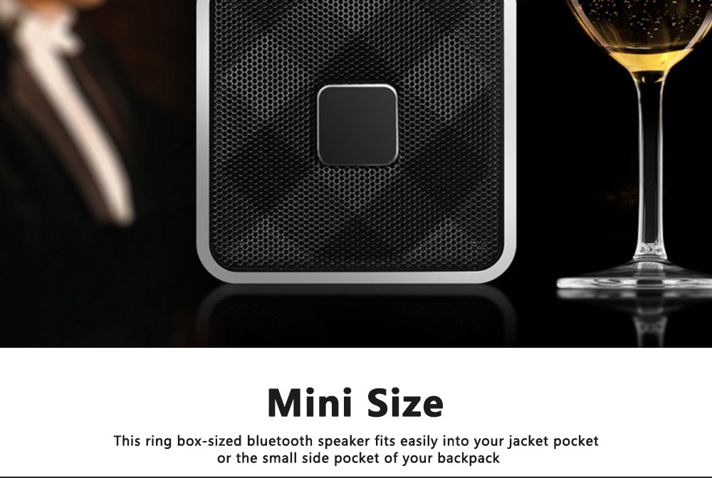 Mini Bluetooth Speaker Powerful Sound with Enhanced Bass, Built-in Mic, Support TF Card Playing, Portable for Travel, Outdoor, Hiking 1