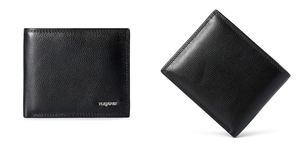 TUCANO Men Wallet Soft Business Genuine Leather Wallets Slim Bifold Top Flip Money Clip Gifts for Men 8