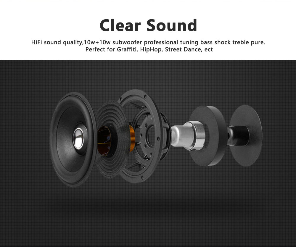 Portable Wireless Bluetooth Speaker High Power Car Outdoor Radio Dual Speakers System Subwoofer 14