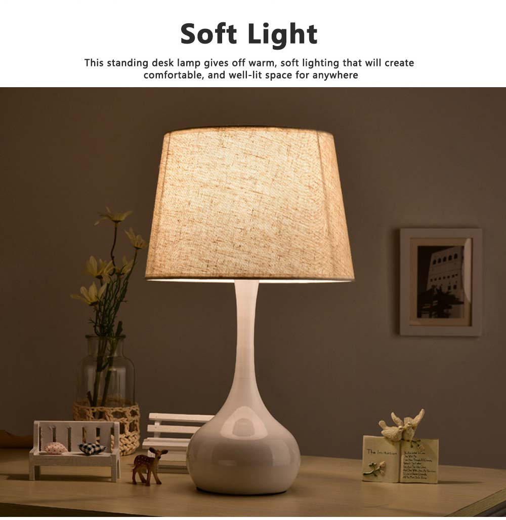Night Lights LED Multifunctional Linen Lampshade Reading Lamp E27 Screw Touch Switch Table Lamp Bedside Lamp for Home Decor 8