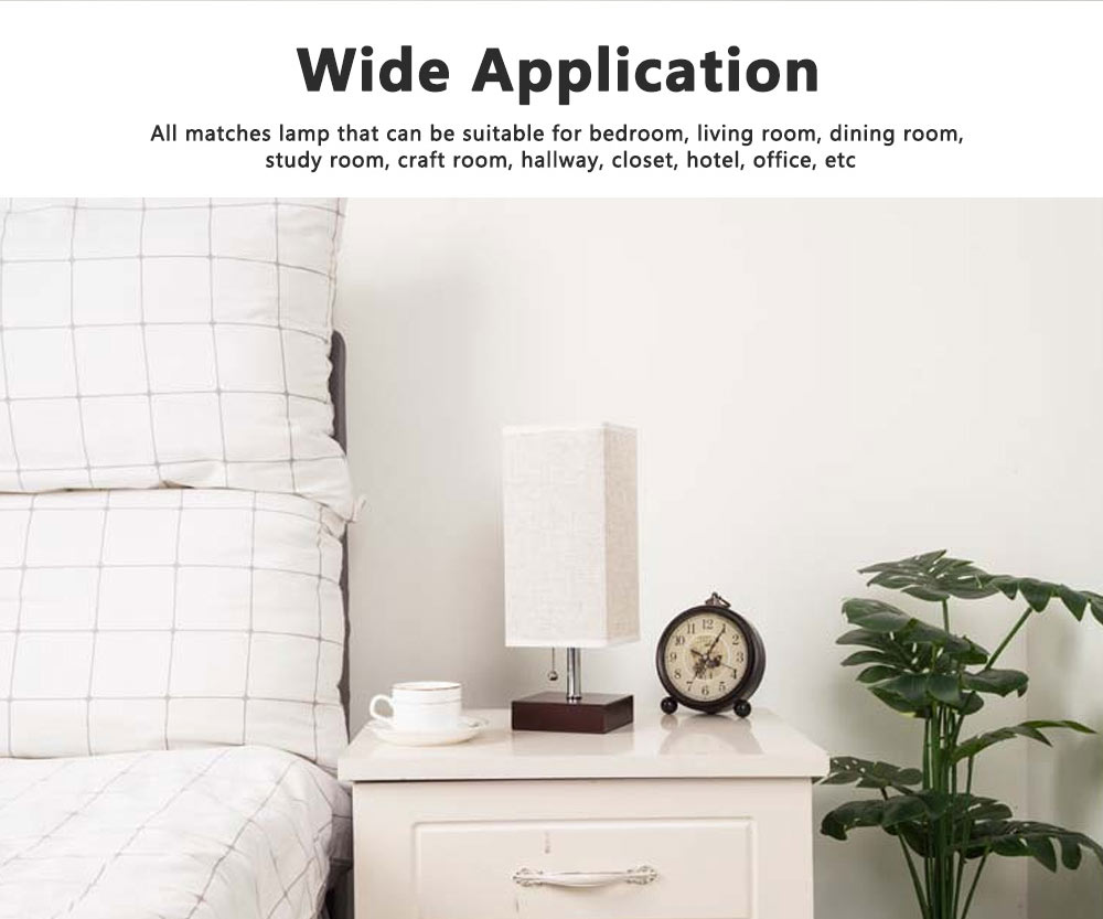 Night Lamp Multifunctional Linen Lampshade Reading Lamp Table Lamp Bedside Lamp with USB Port for Home Decor 2
