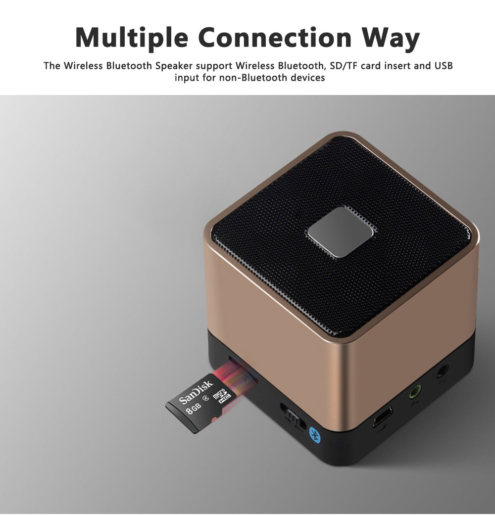 Mini Bluetooth Speaker Powerful Sound with Enhanced Bass, Built-in Mic, Support TF Card Playing, Portable for Travel, Outdoor, Hiking 3
