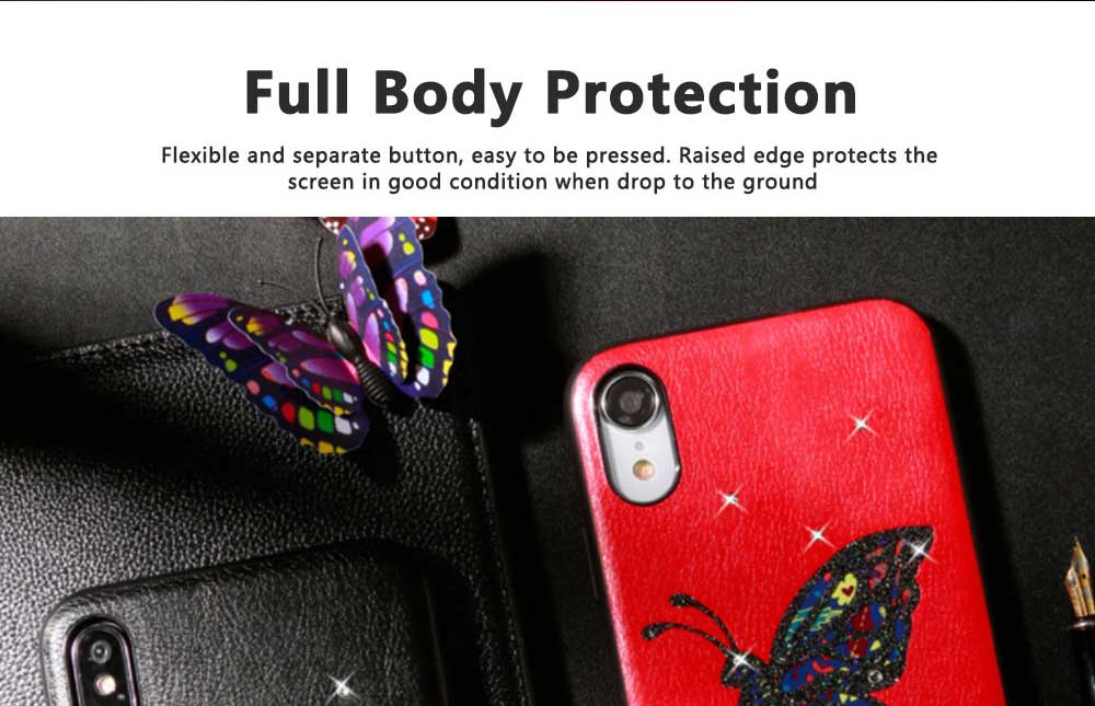Luxury iPhone Protective Case 3D Handmade Bling Colorful Diamonds Soft TPU Back Case Cover for Apple iPhone XS XR XS Max 6