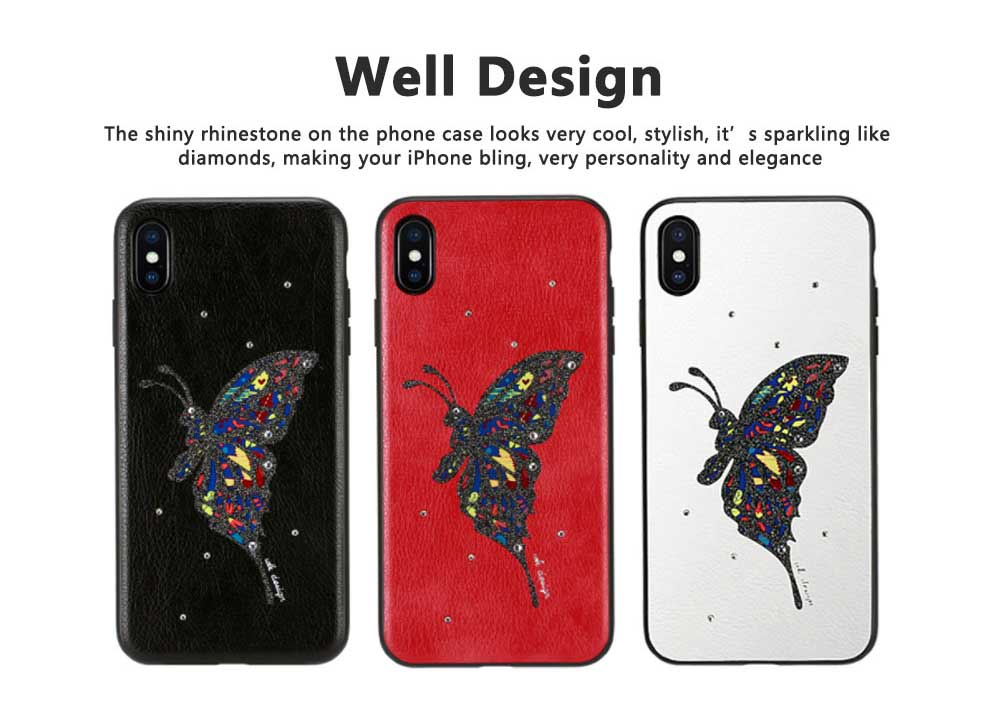 Luxury iPhone Protective Case 3D Handmade Bling Colorful Diamonds Soft TPU Back Case Cover for Apple iPhone XS XR XS Max 8