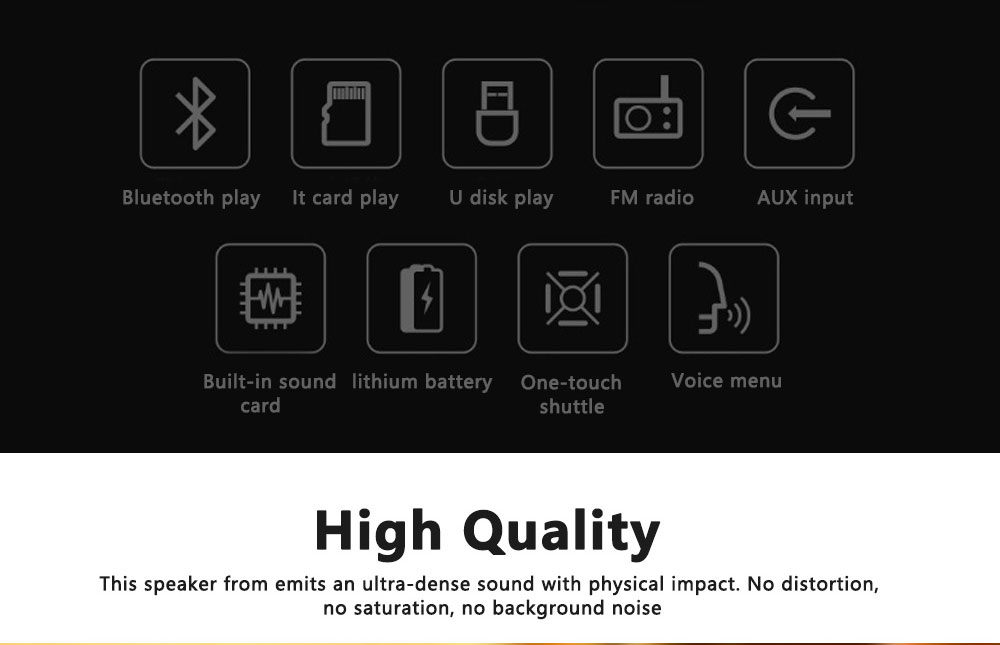 Portable Wireless Bluetooth Speaker High Power Car Outdoor Radio Dual Speakers System Subwoofer 2